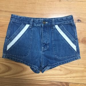 Free People Denim Shorts with Eyelet